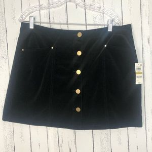 Maison Jules Corduroy Black Mini Skirt Size 14